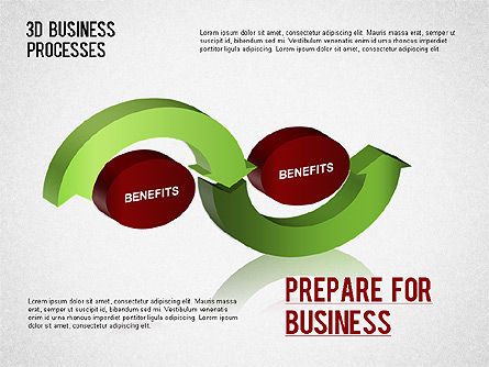 3D Business Process Diagram, Slide 4, 01331, Process Diagrams — PoweredTemplate.com
