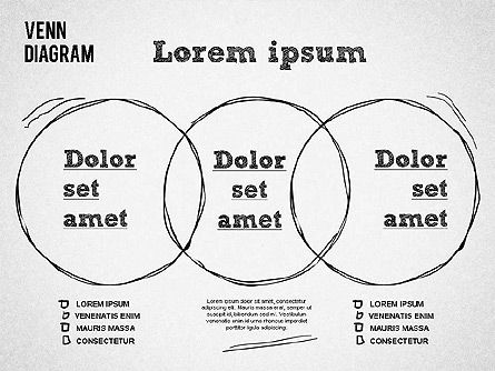 Hand Drawn Venn Diagram, Slide 3, 01332, Business Models — PoweredTemplate.com