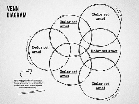 Hand Drawn Venn Diagram, Slide 7, 01332, Business Models — PoweredTemplate.com