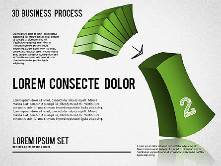 3D Process Shapes, Slide 2, 01336, Process Diagrams — PoweredTemplate.com