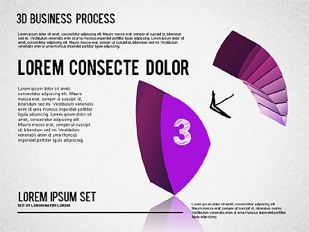 3D Process Shapes, Slide 3, 01336, Process Diagrams — PoweredTemplate.com