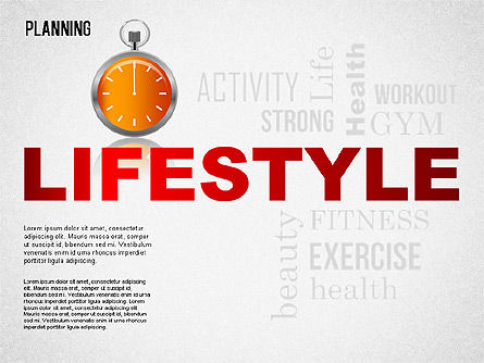 Lifestyle Planning Diagram, 01338, Business Models — PoweredTemplate.com