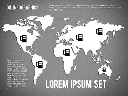 Oil Infographics, Slide 12, 01339, Presentation Templates — PoweredTemplate.com