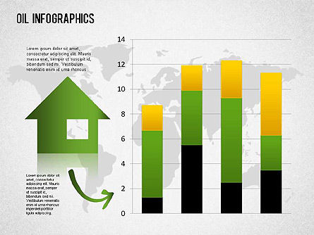 Oil Infographics, Slide 3, 01339, Presentation Templates — PoweredTemplate.com