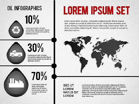 Oil Infographics, Slide 7, 01339, Presentation Templates — PoweredTemplate.com