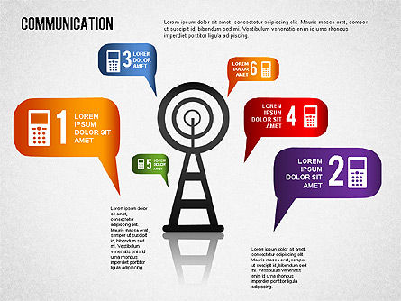 Communication Infographics, 01342, Business Models — PoweredTemplate.com