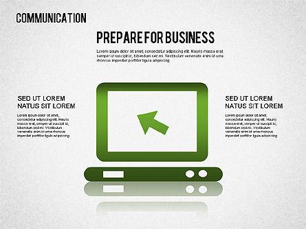 Communication Infographics, Slide 5, 01342, Business Models — PoweredTemplate.com
