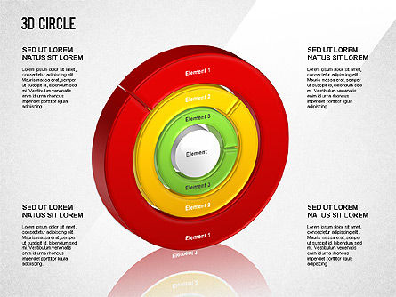 Business Models: 3D Circle Segmented Diagram #01343