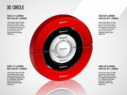 3D Circle Segmented Diagram, Slide 2, 01343, Business Models — PoweredTemplate.com