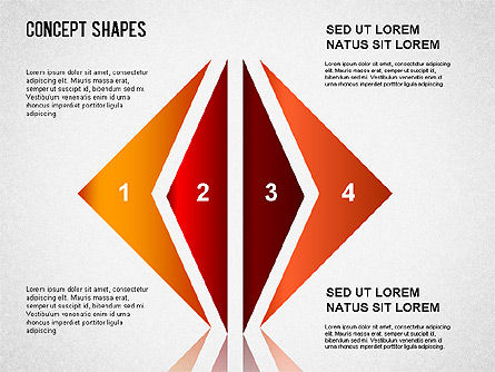Concept Shapes Set, Slide 2, 01347, Shapes — PoweredTemplate.com