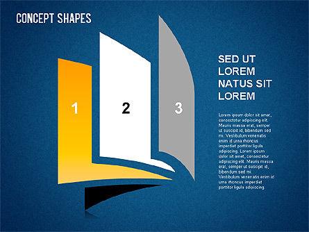 Concept Shapes Set, Slide 9, 01347, Shapes — PoweredTemplate.com