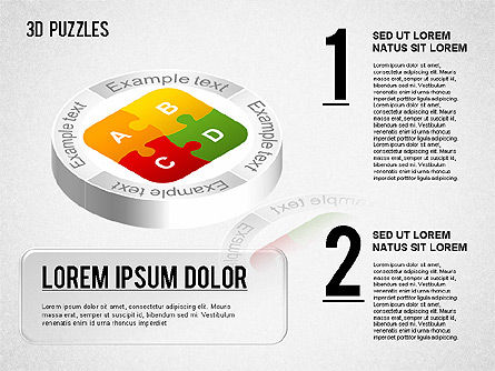 Puzzle Diagrams: 3D Puzzle Stages #01350