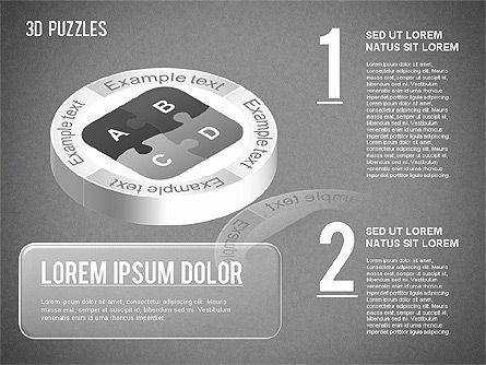 3D Puzzle Stages, Slide 10, 01350, Puzzle Diagrams — PoweredTemplate.com