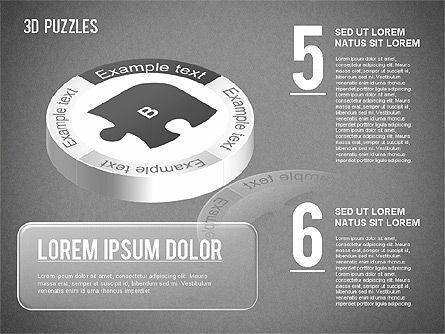 3D Puzzle Stages, Slide 12, 01350, Puzzle Diagrams — PoweredTemplate.com