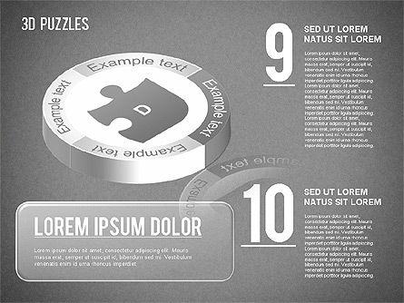 3D Puzzle Stages, Slide 14, 01350, Puzzle Diagrams — PoweredTemplate.com