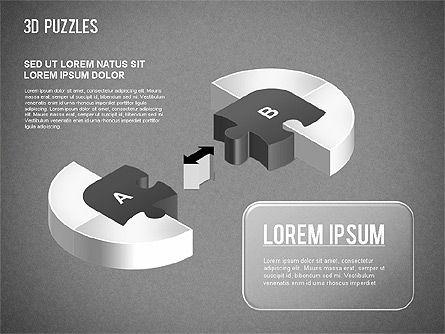 3D Puzzle Stages, Slide 15, 01350, Puzzle Diagrams — PoweredTemplate.com