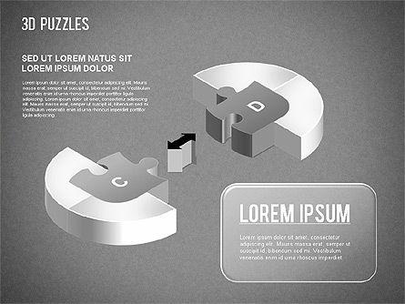 3D Puzzle Stages, Slide 16, 01350, Puzzle Diagrams — PoweredTemplate.com