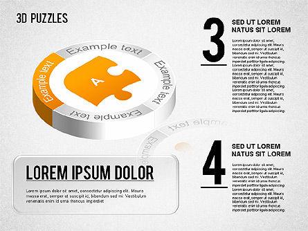 3D Puzzle Stages, Slide 2, 01350, Puzzle Diagrams — PoweredTemplate.com