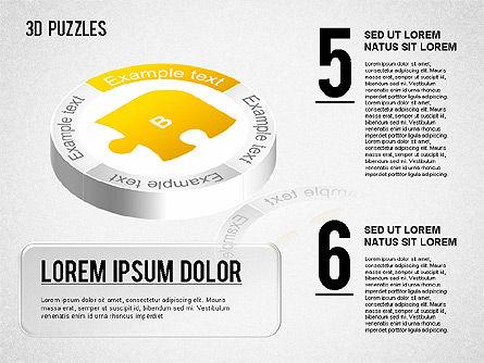 3D Puzzle Stages, Slide 3, 01350, Puzzle Diagrams — PoweredTemplate.com