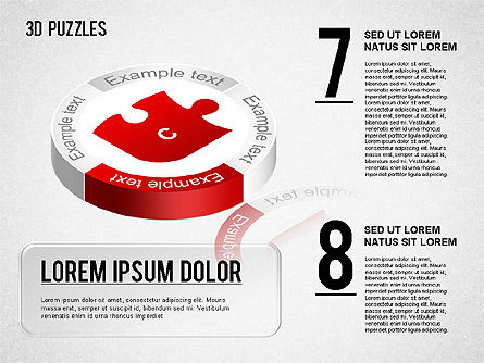 3D Puzzle Stages, Slide 4, 01350, Puzzle Diagrams — PoweredTemplate.com