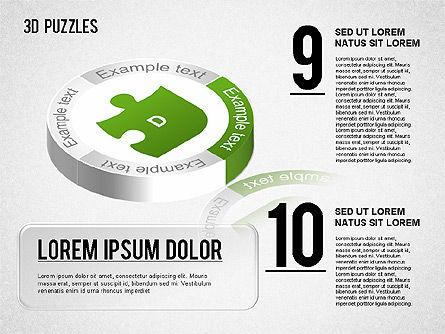 3D Puzzle Stages, Slide 5, 01350, Puzzle Diagrams — PoweredTemplate.com