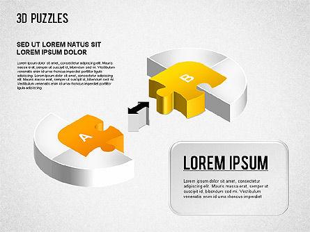 3D Puzzle Stages, Slide 6, 01350, Puzzle Diagrams — PoweredTemplate.com