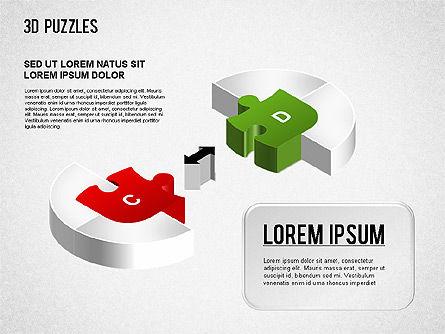 3D Puzzle Stages, Slide 7, 01350, Puzzle Diagrams — PoweredTemplate.com