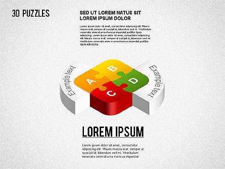 3D Puzzle Stages, Slide 8, 01350, Puzzle Diagrams — PoweredTemplate.com