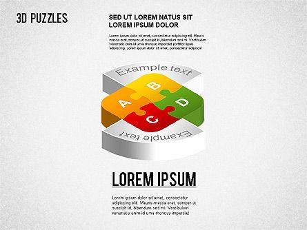3D Puzzle Stages, Slide 9, 01350, Puzzle Diagrams — PoweredTemplate.com