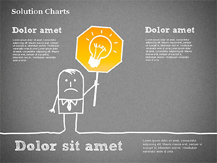Finding Solution Chart, Slide 13, 01354, Business Models — PoweredTemplate.com