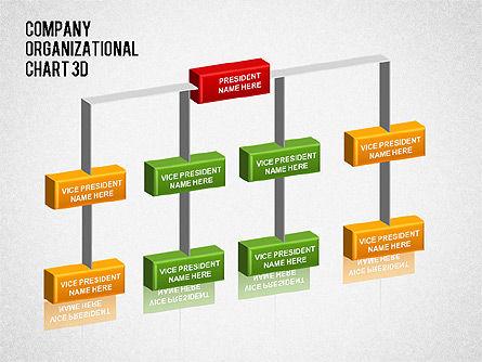 3D Org Chart, Slide 3, 01355, Organizational Charts — PoweredTemplate.com