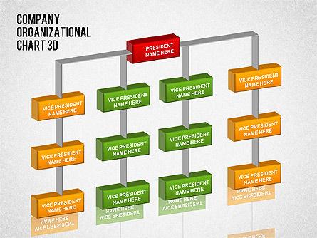 3D Org Chart, Slide 4, 01355, Organizational Charts — PoweredTemplate.com