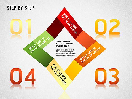 Step by Step Chart, 01358, Timelines & Calendars — PoweredTemplate.com