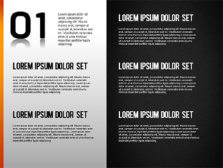 Step by Step Chart, Slide 10, 01358, Timelines & Calendars — PoweredTemplate.com
