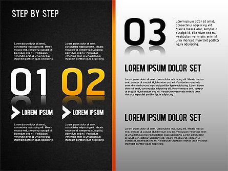 Step by Step Chart, Slide 12, 01358, Timelines & Calendars — PoweredTemplate.com