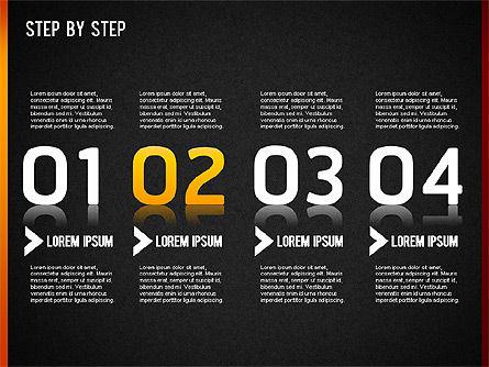 Step by Step Chart, Slide 13, 01358, Timelines & Calendars — PoweredTemplate.com