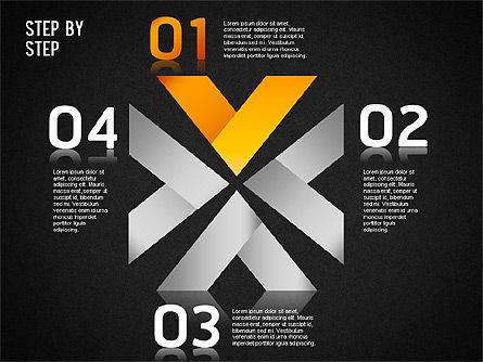 Step by Step Chart, Slide 14, 01358, Timelines & Calendars — PoweredTemplate.com
