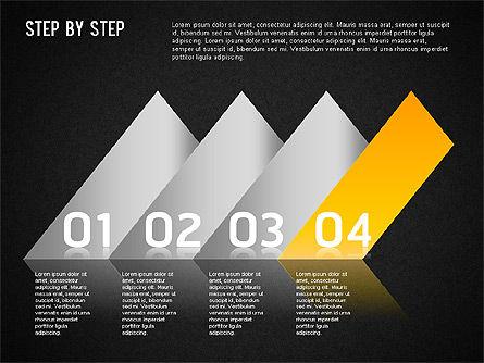 Step by Step Chart, Slide 15, 01358, Timelines & Calendars — PoweredTemplate.com