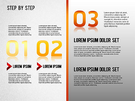 Step by Step Chart, Slide 4, 01358, Timelines & Calendars — PoweredTemplate.com