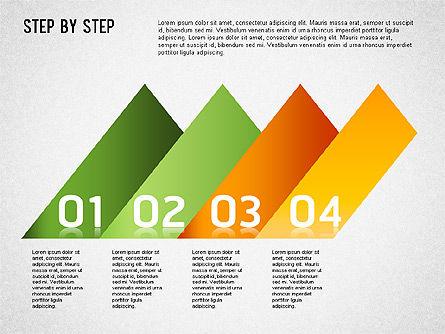 Step by Step Chart, Slide 7, 01358, Timelines & Calendars — PoweredTemplate.com
