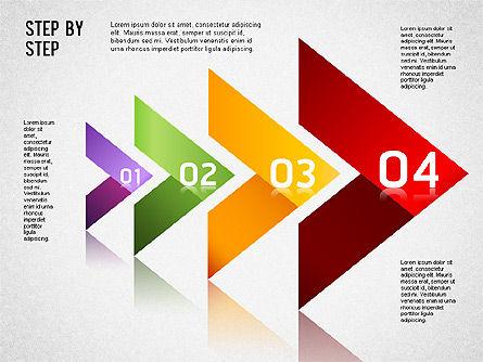 Step by Step Chart, Slide 8, 01358, Timelines & Calendars — PoweredTemplate.com