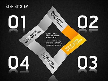 Step by Step Chart, Slide 9, 01358, Timelines & Calendars — PoweredTemplate.com