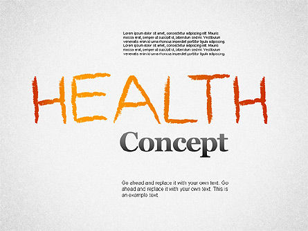 Medical Diagrams and Charts: Healthy Lifestyle Concept Shapes #01359
