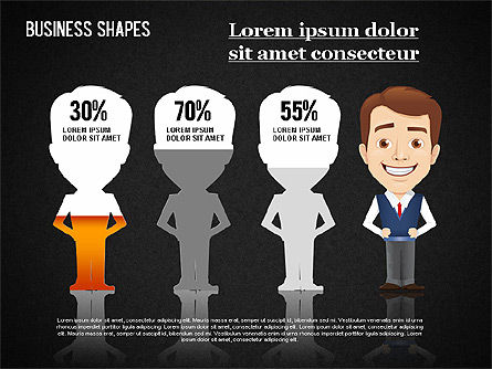 Business Shapes Toolbox, Slide 15, 01360, Shapes — PoweredTemplate.com