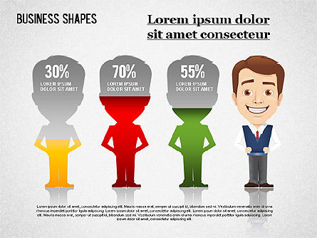 Business Shapes Toolbox, Slide 7, 01360, Shapes — PoweredTemplate.com