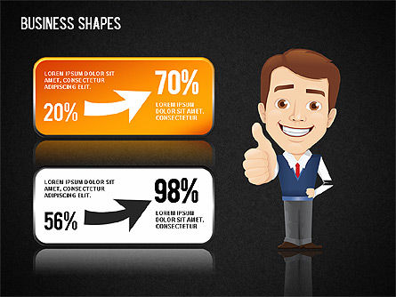Business Shapes Toolbox, Slide 9, 01360, Shapes — PoweredTemplate.com