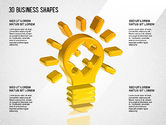 Shapes: 3d business vormen #01361