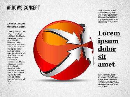 Arrows Around Sphere, Slide 2, 01364, Shapes — PoweredTemplate.com