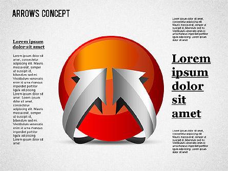 Arrows Around Sphere, Slide 3, 01364, Shapes — PoweredTemplate.com