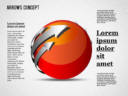 Arrows Around Sphere, Slide 4, 01364, Shapes — PoweredTemplate.com